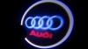 Светодиодный проекционный логотип AUDI (комплект 2шт и фреза)