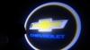 Светодиодный проекционный логотип CHEVROLET комплект 2шт и фреза