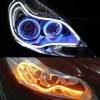 Фары светодиодные KS-45WY гибкие беложелтые (СОВ диод 45см)